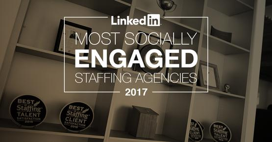 Aquent recognized by LinkedIn as one of the Top 25 Most Socially Engaged Staffing Agencies globally image