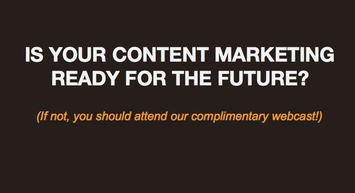 Webcast: Technology Trends That Will Impact Content Marketing in 2014